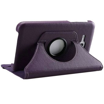 360 Degree Rotating PU Leather Case For Samsung Galaxy Tab 3V(Purple) Price Philippines