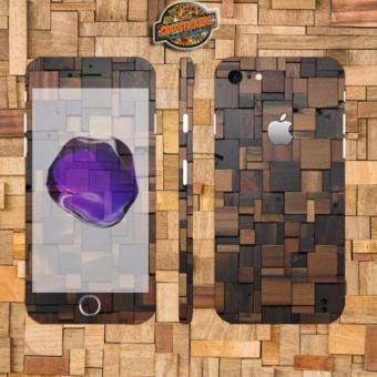 Harga Oddstickers wood 4 Phone Skin Cover for iPhone 7