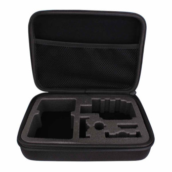 Harga GP102 Large Travel Case/Pouch/Bag for GoPro Hero, SJCAM, Xiaomi Yi, Supremo and other Action Cameras (Black)