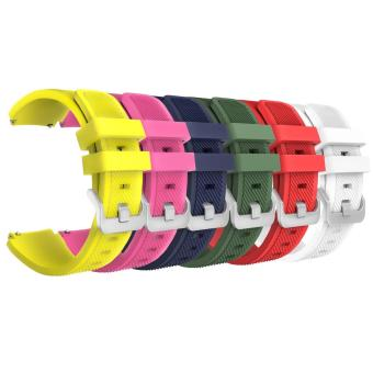 6 pcs Multi Colors Soft Silicone Sport Replacement Strap for Samsung Gear S3 Frontier/S3 Classic Wristband - intl Price Philippines