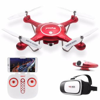 Syma X5UW Wifi FPV 720P HD Camera Quadcopter Drone (Red) with VR Box 3D Virtual Reality Glasses for Smartphone Design 2 (White/Black) Price Philippines