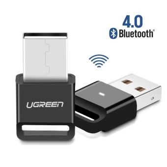 Harga Ugreen Wireless USB Bluetooth Adapter V4.0 Dongle Music Sound Receiver Bluetooth Transmitter for Computer PC