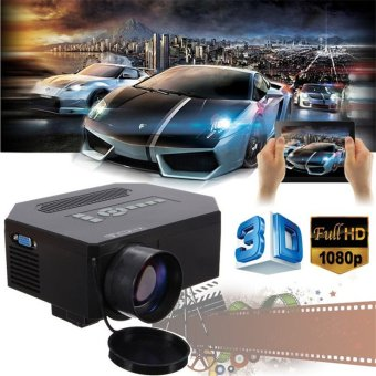 Harga 1200lumens HD 1080P Home Cinema 3D HDMI USB Video Game LED LCD Mini Projector Black