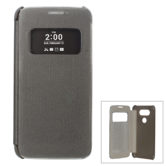 Harga Flip-Open Smart Case w/ View Window for LG G5 - Silver Grey
