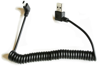 Robotjoy Coiled USB 2.0 Type A to Mini-B USB Cable with Right Angle Connectors Price Philippines