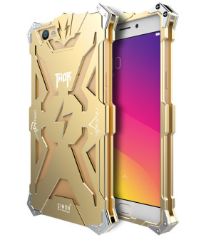 Harga Fashion Aluminum Metal Frame Back Cover Case for OPPO A59s / OPPO F1s / OPPO A59 (Gold) - intl