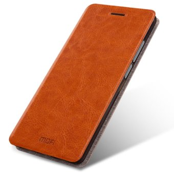 Harga Samsung Galaxy C9 PRO Case, Mofi Rui Series Ultra Thin Crash Proof Stand Slim Fit Flip Up Bracket PU Leather + Soft TPU Protective Shell Cover Case for Samsung Galaxy C9 PRO - Brown - intl