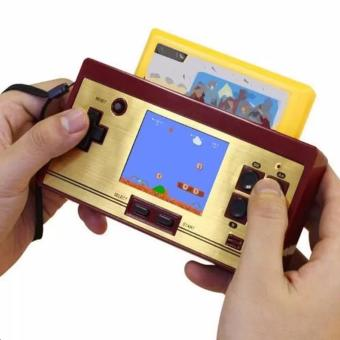 Pinoy Puff FC-POCKET Classic 8 Bit Game Handheld Console Build-in 472 Games with FREE 128 in 1 Game Cartridge(Gold) Price Philippines
