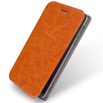 Harga MOFI Rui Series Leather Stand Case for Asus Zenfone Zoom ZX551ML ZX550 - Brown - intl