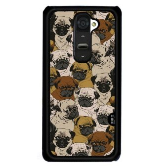 Harga Lovely Group Dog Carton Phone Case for LG G2(Multicolor) - intl