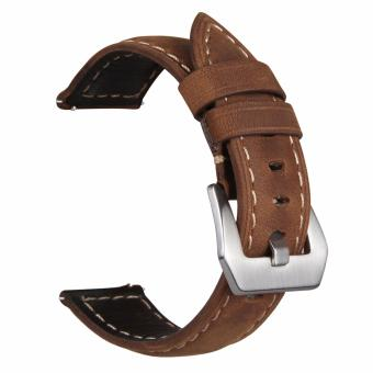 Samsung Gear S3 S2 Premium Leather Watchband Bracelet Strap for Samsung Gear S3 S2 (Brown) Price Philippines