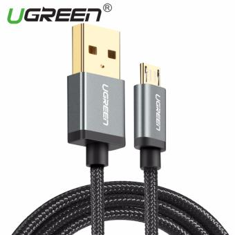 Harga UGREEN Nylon Braided Micro USB Cable Sync Data Charging Cable for Android,Samsung,Xiaomi,HTC,Sony - 0.25m,Black - intl