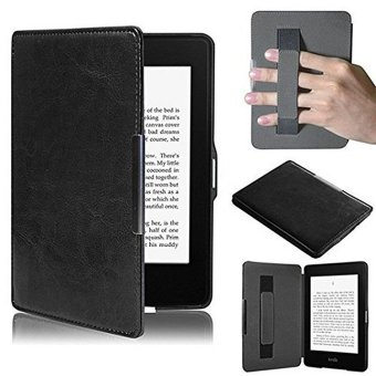 Harga PU Leather Folio Case Cover For Amazon Kindle Paperwhite (Black)