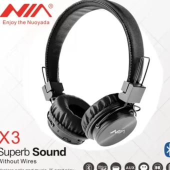 NIA-X-3 4 in 1 Bluetooth Stereo Headset (Black) Price Philippines