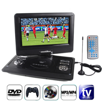 SUNSKY 12.5 inch TFT LCD Screen Digital Multimedia Portable DVD with Card Reader & USB Port, Support TV (PAL / NTSC / SECAM) & Game Function, 180 Degree Rotation, Support SD / MS / MMC Card(Black) Price Philippines
