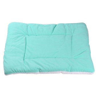 Harga Lightblue anjing Crate Mat Kennel Cage Pad Bed Fluffy Washable Travel Pet Cushion