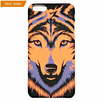Harga iPhone 6 plus 6s plus, Case Glowing in the Dark, Animal 3D Printed ( Orange Wolf )