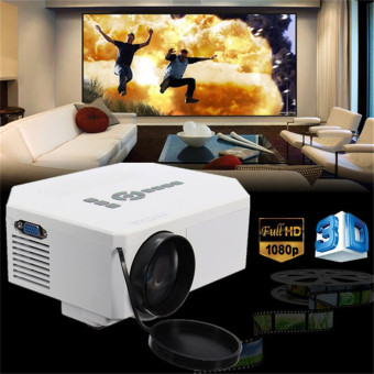 1200lumens HD 1080P Home Cinema 3D HDMI USB Video Game LED LCD Mini Projector (White) - Intl Price Philippines