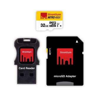 Harga Strontium Nitro 32GB 466x Micro SD Card with Adapter and Card Reader