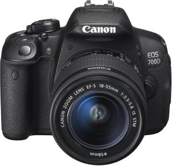 Canon EOS 700D(Black) with 18-55mm STM + 55-250mm IS II Twin Lens Kit