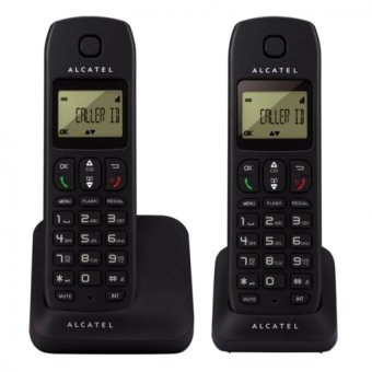Alcatel E130 DUO Cordless Telephone with Caller ID (Black) Price Philippines