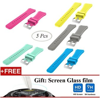 5 Pcs Sports Silicone Bracelet Strap Band For Samsung Gear S3 Classic / S3 Frontier - intl Price Philippines