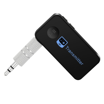 Bluetooth Music Audio Stereo Transmitter w/ 3.5mm Audio Output - Black Price Philippines