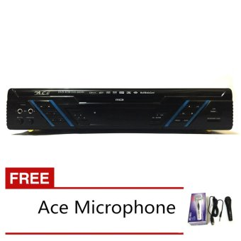 Ace MIDI-9905 Karaoke DVD Player with Games and Radio (Black) with FREE Ace-504 Microphone Price Philippines
