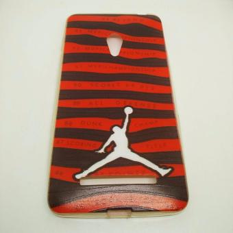 Harga Printed JORDAN jelly Case ZENFONE 5 (Red)