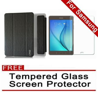 iCase Slim Book Cover for Samsung Galaxy Tab A (2016) 7.0 (SM-T280 T285) (Black) with FREE Tempered Glass Screen Protector (Clear) Price Philippines