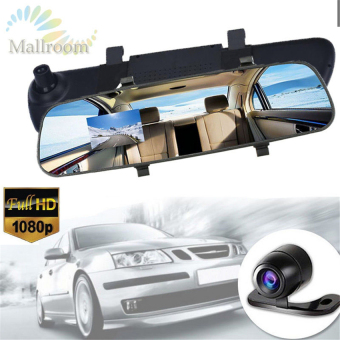 Harga LCD HD Car DVR Car Camera Dash Cam Video Recorder Rearview MirrorVehicle DVR