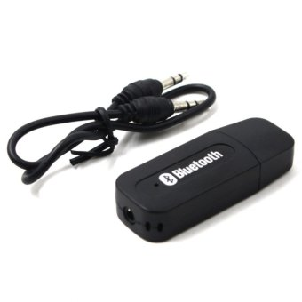 Harga Wireless Bluetooth Music Receiver Dongle Adapter (Black)