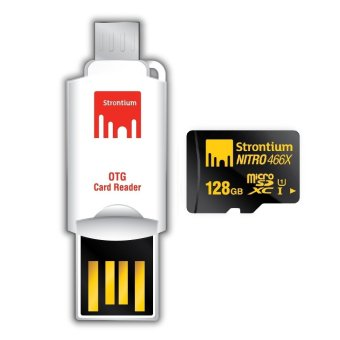 Harga Strontium Nitro 128GB 466x Micro SD Card with OTG Reader