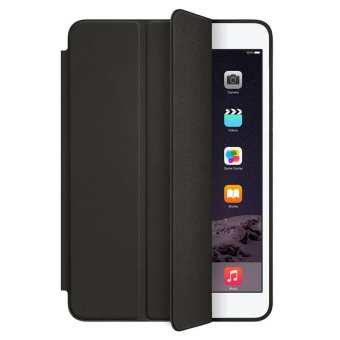Harga PU Leather Smart Case Cover with Film Pen For iPad mini 1 2 3 Retina (Black)