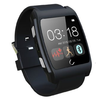 Harga Uwatch UX Bluetooth Smart Wrist Watch Phone Mate For Android Samsung/iPhone(Black)