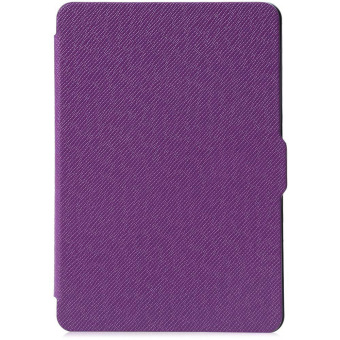 Harga Leather Smart Cover for Amazon Kindle Paperwhite 1 / 2 / 3 (Purple)--TC