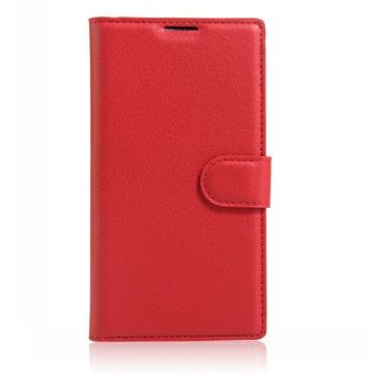 Wallet Flip Leather Case Cover For Alcatel Flash 2/Alcatel OneTouch Flash 2 (Red) - intl Price Philippines