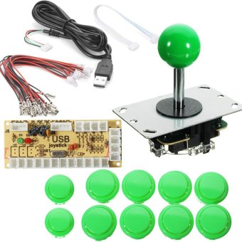 Zero Delay Arcade Game Controller USB Joystick Kit Set for MAME Raspberry Pi (Light Green) - intl Price Philippines