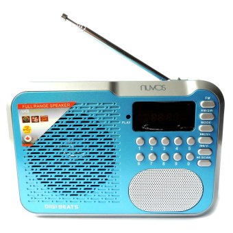 Harga Nuvos Digi Beats Portable AM/FM Radio (Blue)