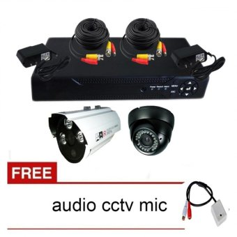 Harga Package 3 CCTV DVR and Camera with Free CCTV Audio Mic