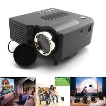 Harga Portable UG28+ Mini LED Projector HDMI Black Home Cinema PC Laptop VGA USB SD AV Black