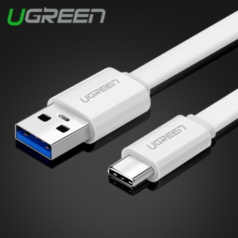 Harga UGREEN 0.5m USB 3.1 Type-C Fast Charging Sync Data Cable Phone Cable for OnePlus Xiaomi MEIZU ZUK - White