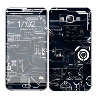 Harga Oddstickers Circuit 2 Skin Cover for Samsung Galaxy E7