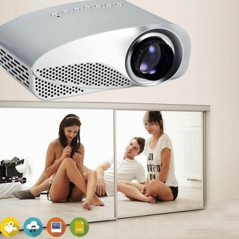 Harga GP8S 1080P Full HD Mini LED Projector Private Home Theater with 2 HDMI Ports - intl