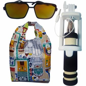 Mini Selfie Stick/Monopod for LG PRADA 3.0 P940 (Black)with Shopping Bag and Free Unisex Sunglasses Price Philippines