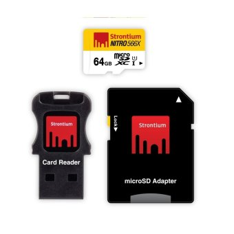 Harga Strontium Nitro 64GB 566x Micro SD Card with Adapter and Card Reader