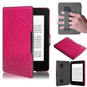 Harga PU Leather Folio Case Cover For Amazon Kindle Paperwhite (Rose)