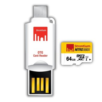 Harga Strontium Nitro 64GB 566x Micro SD Card with OTG Reader