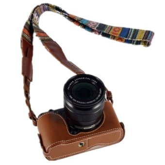 Brown Leather Camera Body Case CSJ-XM1-01 for Fujifilm X-M1/X-A1/X-A2 Price Philippines