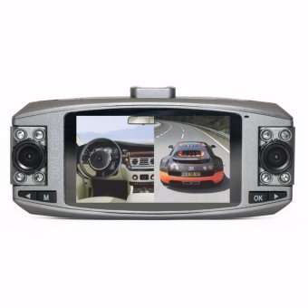 NIA HD Car DVR Driving Recorder Dual Lens of 240 degrees (Metallic Grey) Price Philippines